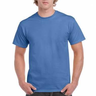 Goedkope gekleurde shirts iris blauw voor volwassenen