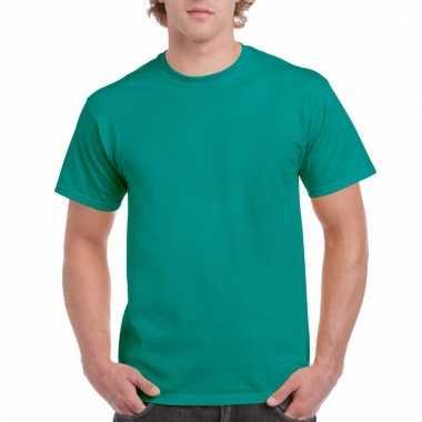 Goedkope gekleurde shirts jadegroen voor volwassenen