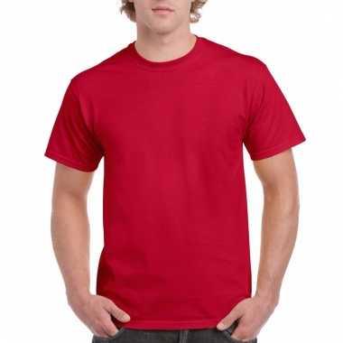 Goedkope gekleurde shirts kersen donkerrood voor volwassenen