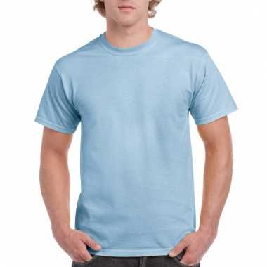 Goedkope gekleurde shirts licht blauw voor volwassenen