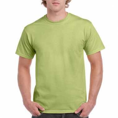 Goedkope gekleurde shirts pistachegroen voor volwassenen