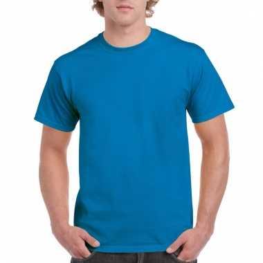 Goedkope gekleurde shirts saffier felblauw voor volwassenen