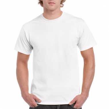 Goedkope gekleurde shirts wit voor volwassenen