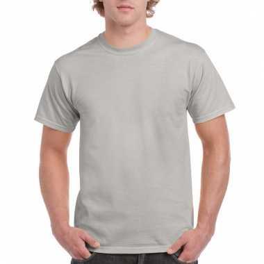 Goedkope gekleurde shirts zinkgrijs voor volwassenen