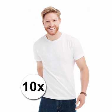 Goedkope witte t-shirts 10 stuks