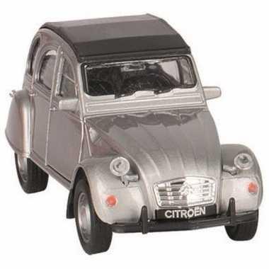 Goki zilver citroen 2cv speelgoedautootje dicht dak 11 cm