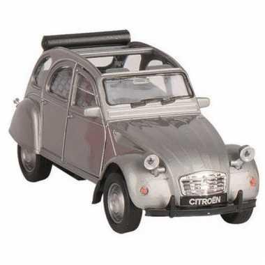 Goki zilver citroen 2cv speelgoedautootje open dak 11 cm