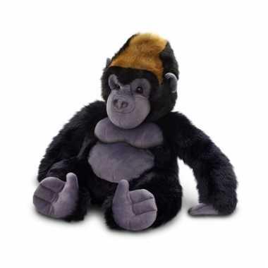 Gorilla/aap knuffel zittend 45cm