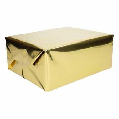 Goud cadeaupapier metallic 400 x 50 cm