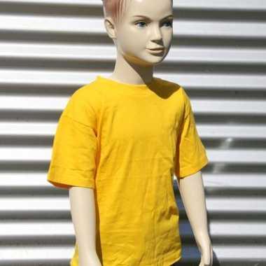 Goud gele t-shirt voor kinderen