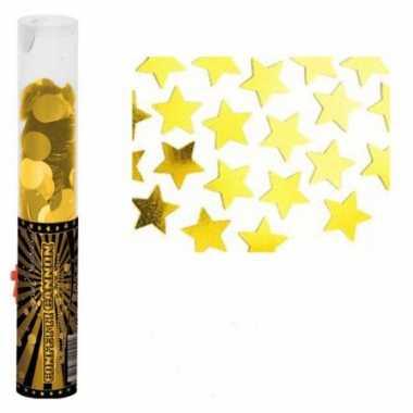 Gouden confetti kanonnen
