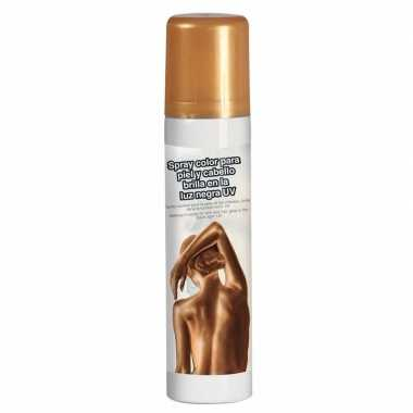 Gouden hair en body paint glow in the dark