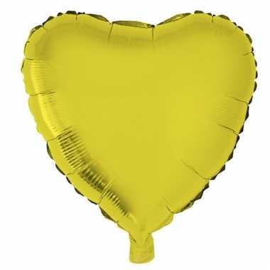 Gouden hartjes folieballonnen 52 cm