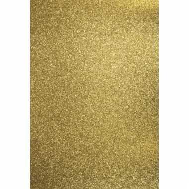 Gouden hobbykarton met glitters