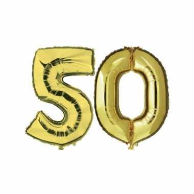 Gouden huwelijk 50 jaar folie ballonnen