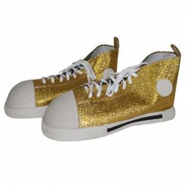Gouden maxi clowns schoenen