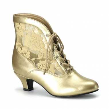 Gouden middeleeuwse muiltjes voor dames