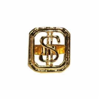 Gouden ring dollarteken volwassnen