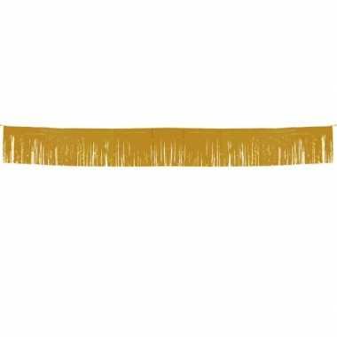 Gouden slinger met franjes 6 meter