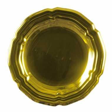 Gouden versiering schaal 45 cm