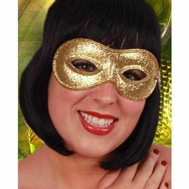 Goudkleurig oogmasker met glitters
