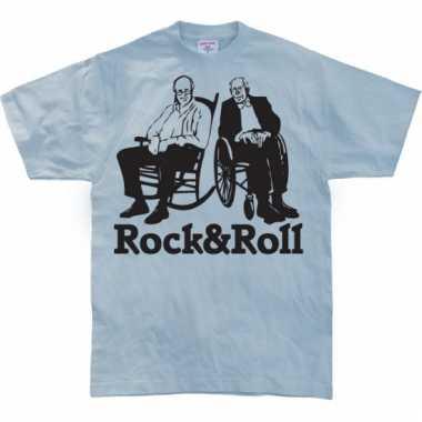 Grappig heren t-shirt rock & roll