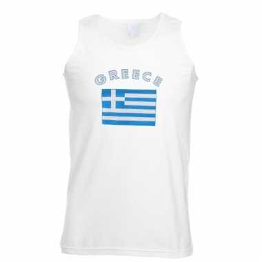 Griekenland vlaggen tanktop/ t-shirt