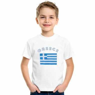 Griekse vlaggen t-shirts voor kinderen