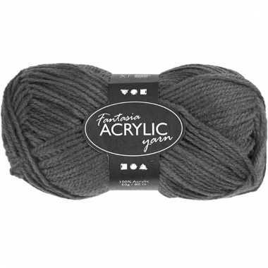 Grijs acryl 3-draads garen 80 meter