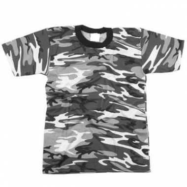 Grijs camouflage shirt korte mouw
