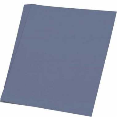 Grijs knutsel papier 50 vellen a4