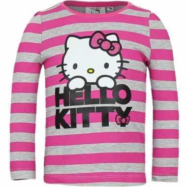 Grijs met roze shirt met hello kitty