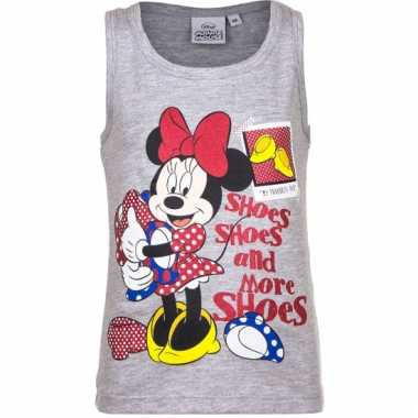 Grijs mouwloos minnie mouse shirt