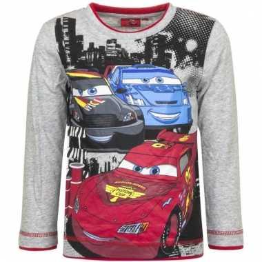 Grijs shirt met mc queen van cars