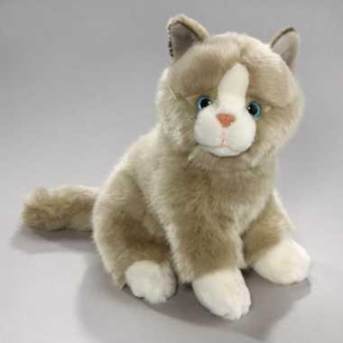Grijs/witte katten knuffels
