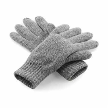 Grijze heren handschoenen