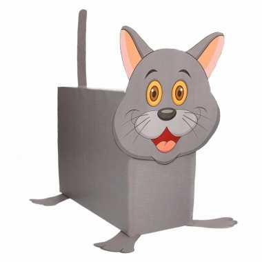 Grijze kat/poes surprise maken startpakket