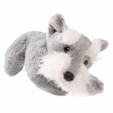 Grijze knuffelhond terrier 25 cm