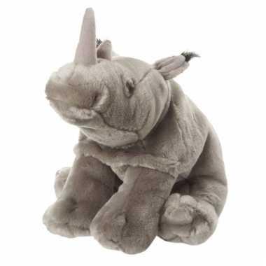 Grijze neushoorn knuffels 18 cm