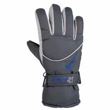 Grijze ski handschoenen voor volwassenen pu supergrip