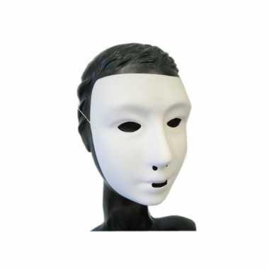 Grimeer masker mensen gezicht
