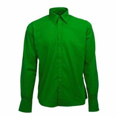 Groen katoenen overhemd voor heren