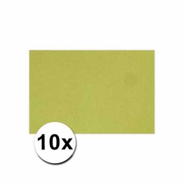 Groen knutsel karton a4 10 stuks