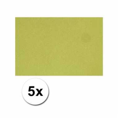 Groen knutsel karton a4 5 stuks