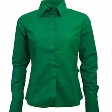 Groen ongsleeve overhemd voor dames