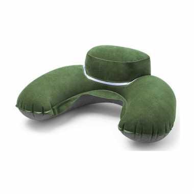 Groen reiskussen extra dik