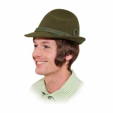 Groen verkleed hoed voor volwassenen