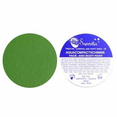 Groene aqua schmink