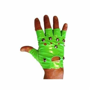 Groene biker handschoenen