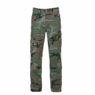 Groene camouflage broek